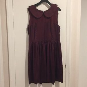 EUC Kensie red dress with rounded collar, sz 8